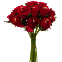 Katie Bright Red Rose Bouquet With 16 Flowers