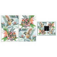 Bird-Flower - Set of four placemats