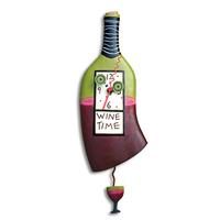 Wine Time Pendulum Clock