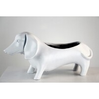 White Oscar Dog Planter Kit
