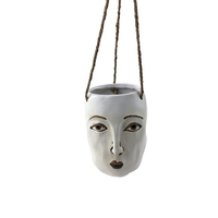 Modern FACE hanging planter