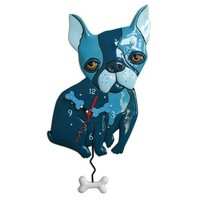 LE BLEU dog Pendulum clock