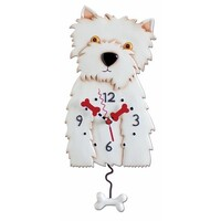 Weston White Dog Pendulum Clock