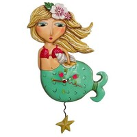 Shelley Mermaid Pendulum Clock