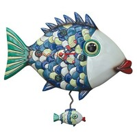 Fishy Lips Pendulum Clock