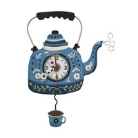 Kettle Blue Pendulum Clock